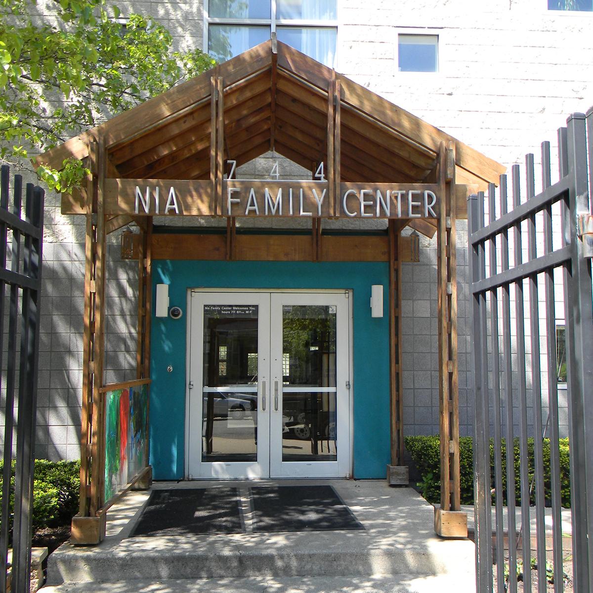 Front door of Nia Family Center