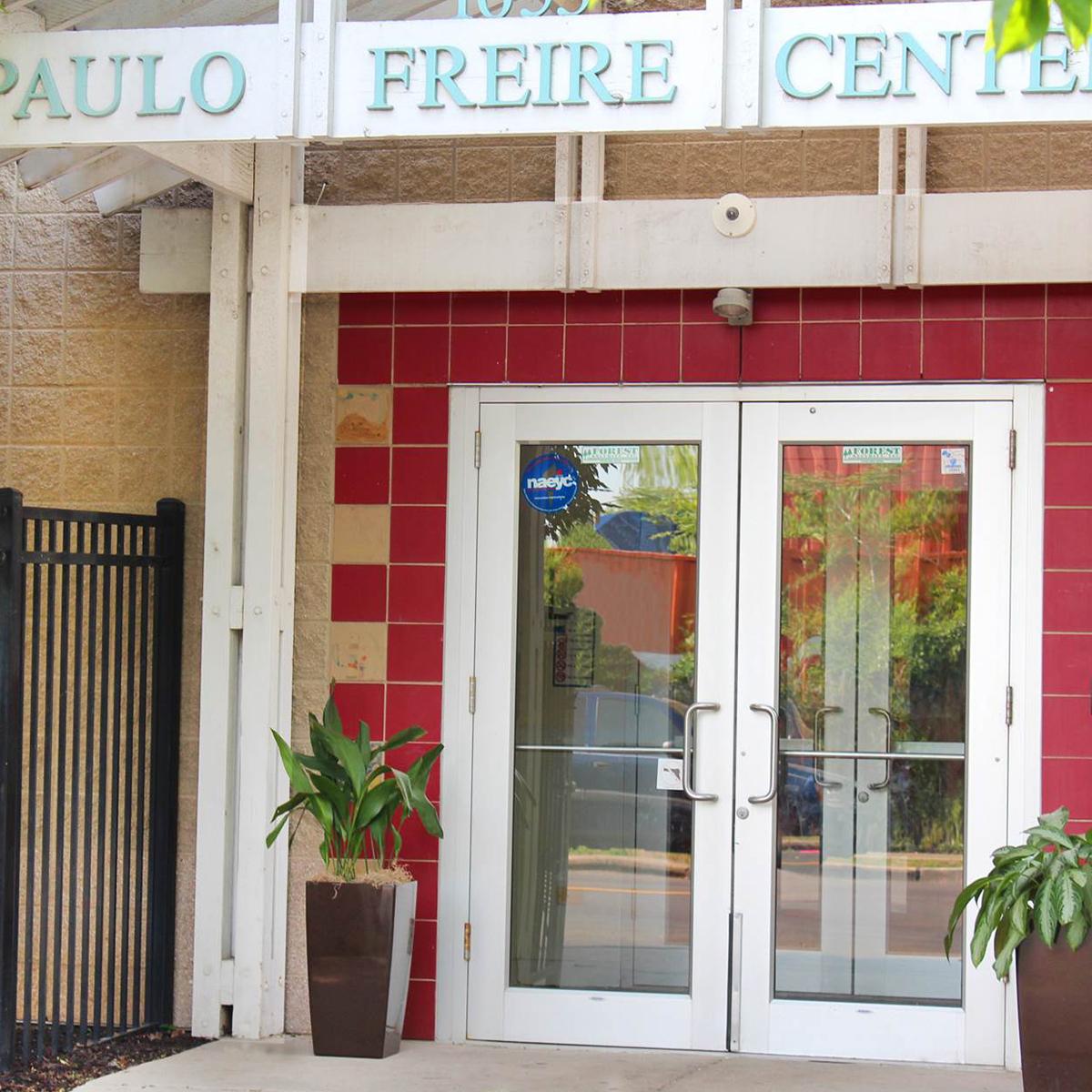 Photo of front door of Paulo Freire Center